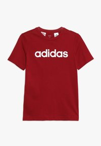 adidas Performance - LIN UNISEX - T-shirt print - active maroon/white - 0