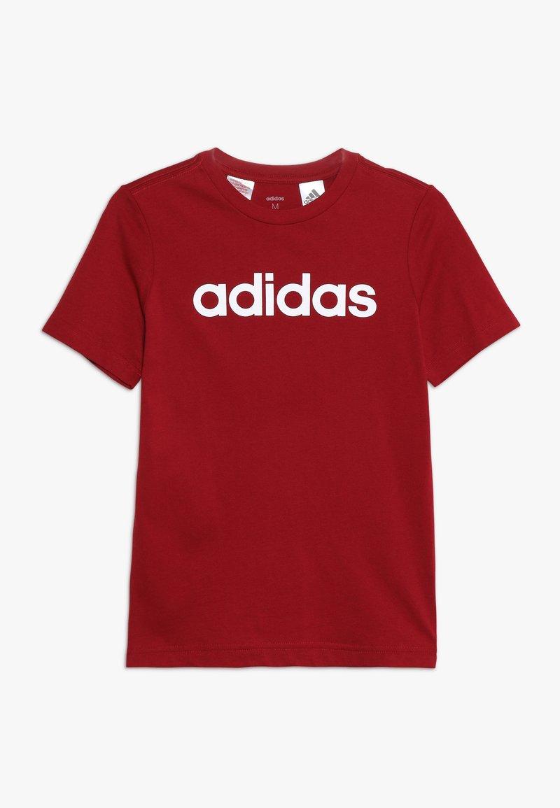 adidas Performance - LIN UNISEX - T-shirt print - active maroon/white