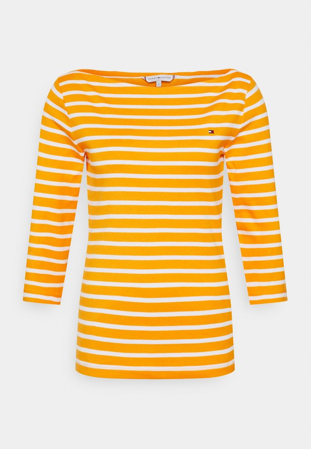 AISHA BOAT - Langarmshirt - yellow/white
