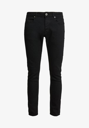 3301 SLIM FIT - Džíny Slim Fit - elto nero black superstretch/pitch black