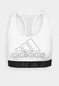 adidas Performance - Medium support sports bra - white/black - 4
