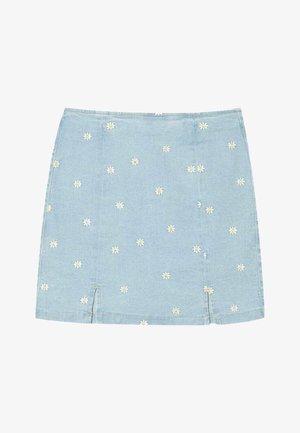 MIT MARGERITEN  - Mini skirt - blue denim