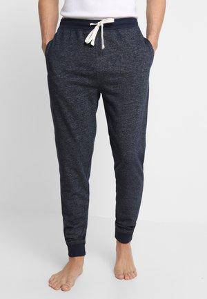 Pyjama bottoms - blue dark melange