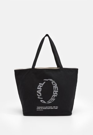VOICES LOGO SHOPPER - Torba na zakupy - black