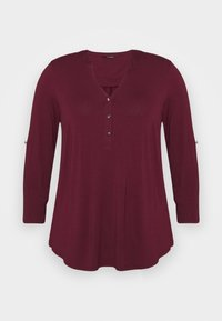 Evans - Long sleeved top - wine - 5