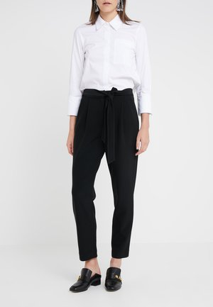 PRISCILLA MODERN PANTS - Trousers - black