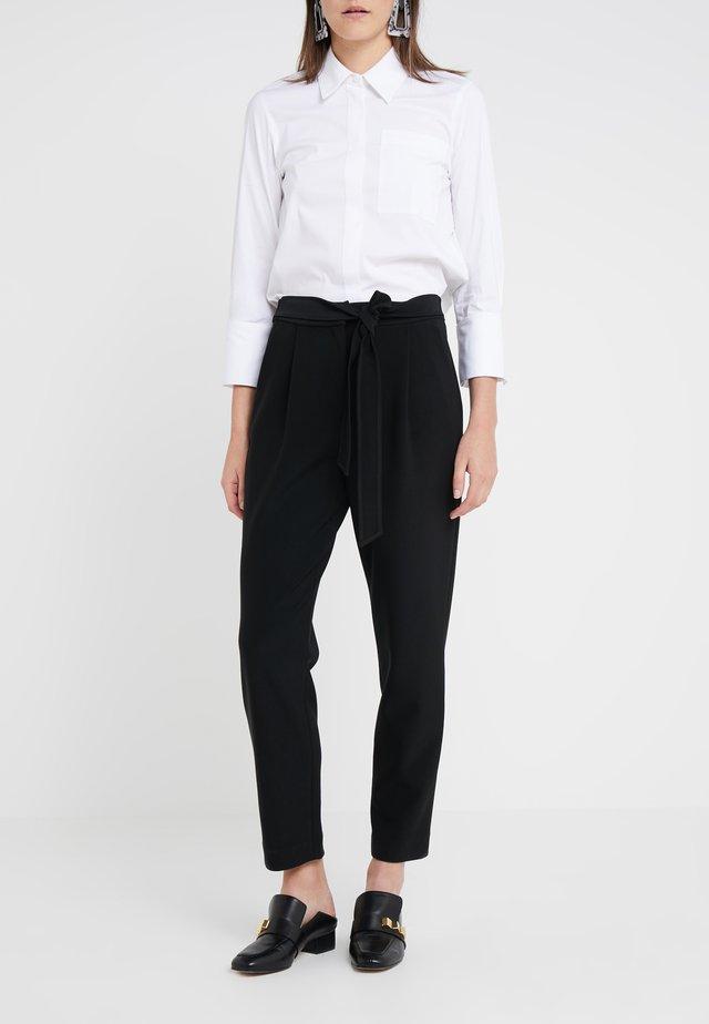 PRISCILLA MODERN PANTS - Spodnie materiałowe - black