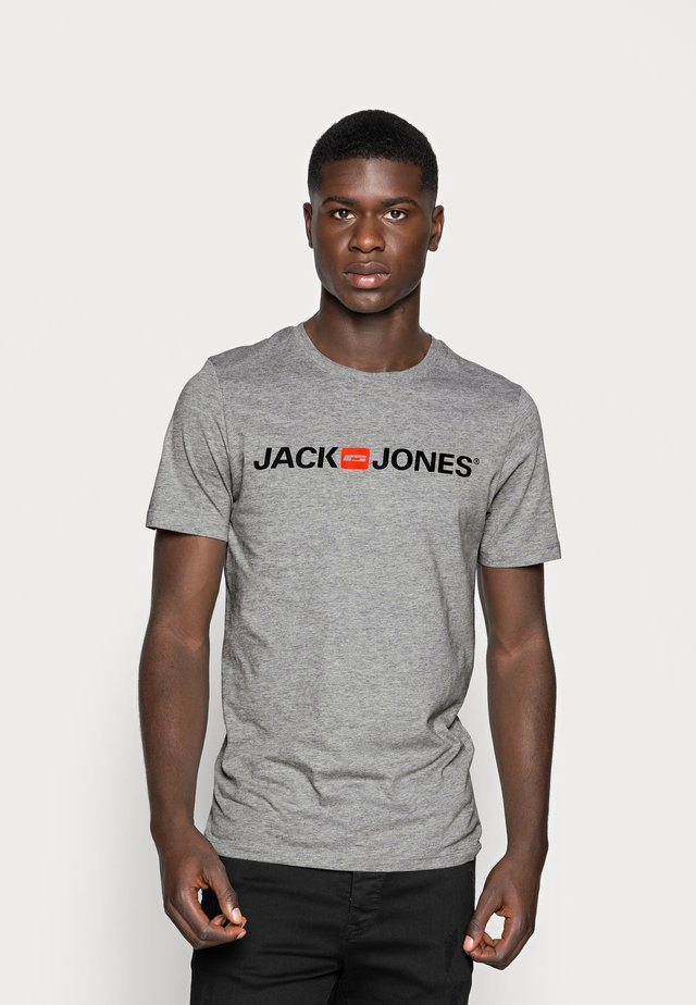JJECORP LOGO CREW NECK  - Print T-shirt - light grey melange