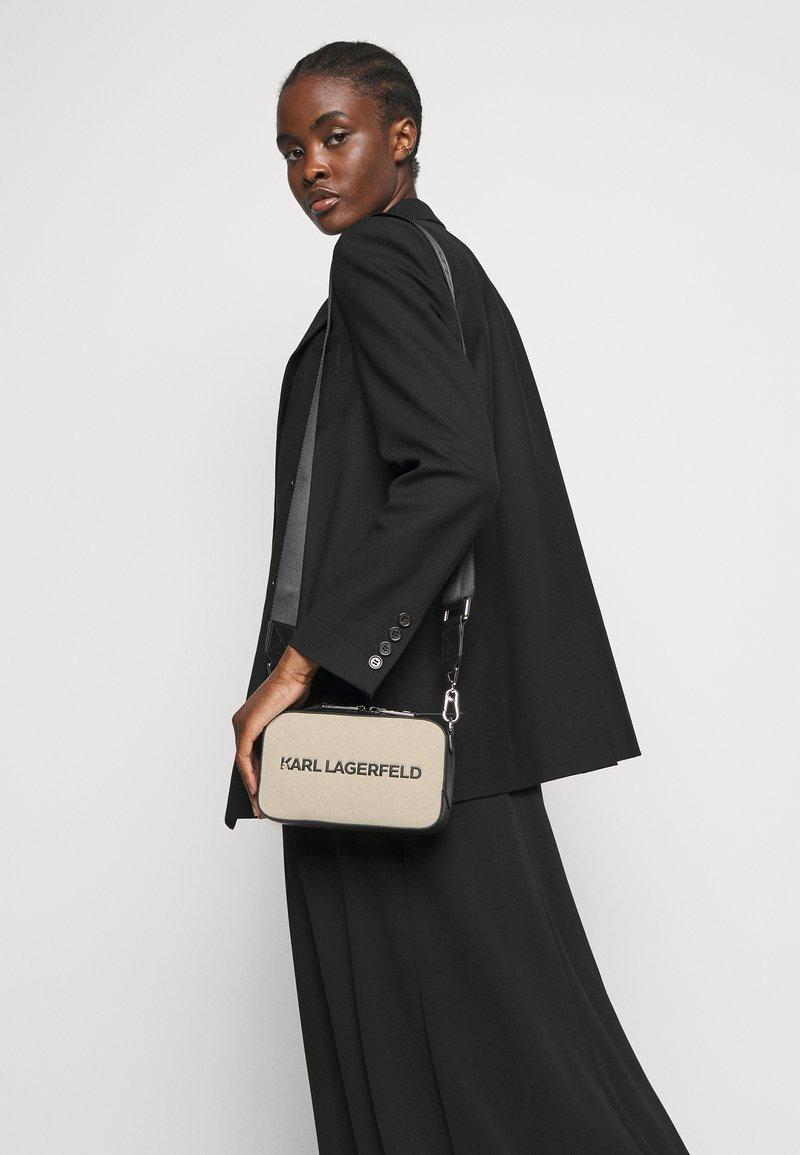 KARL LAGERFELD - SKUARE CAMERA BAG - Across body bag - natural