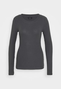 Even&Odd Tall - BASIC CREW NECK LONG SLEEVES - Long sleeved top - anthracite - 0