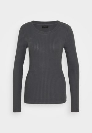 BASIC CREW NECK LONG SLEEVES - Langærmede T-shirts - anthracite