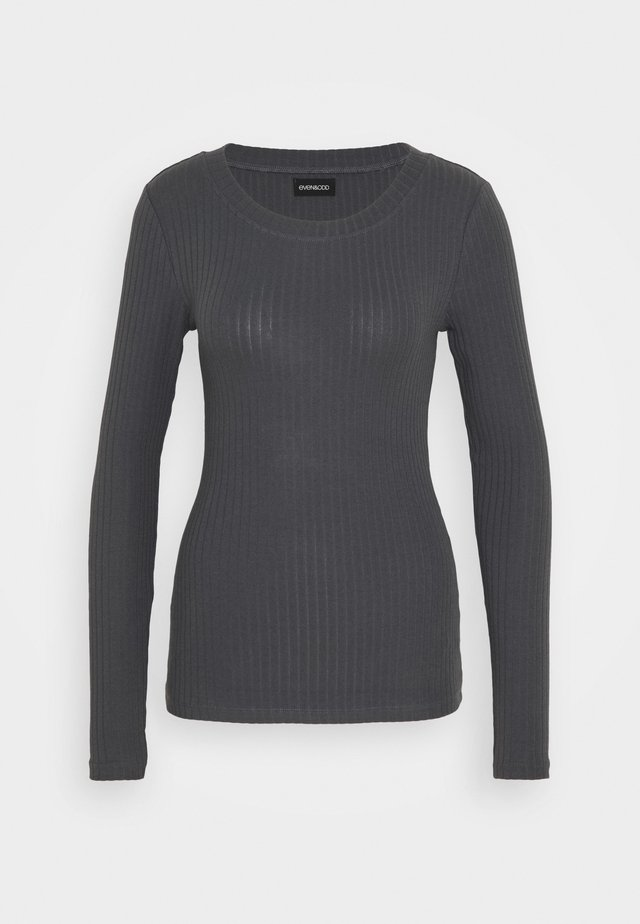 BASIC CREW NECK LONG SLEEVES - Långärmad tröja - anthracite