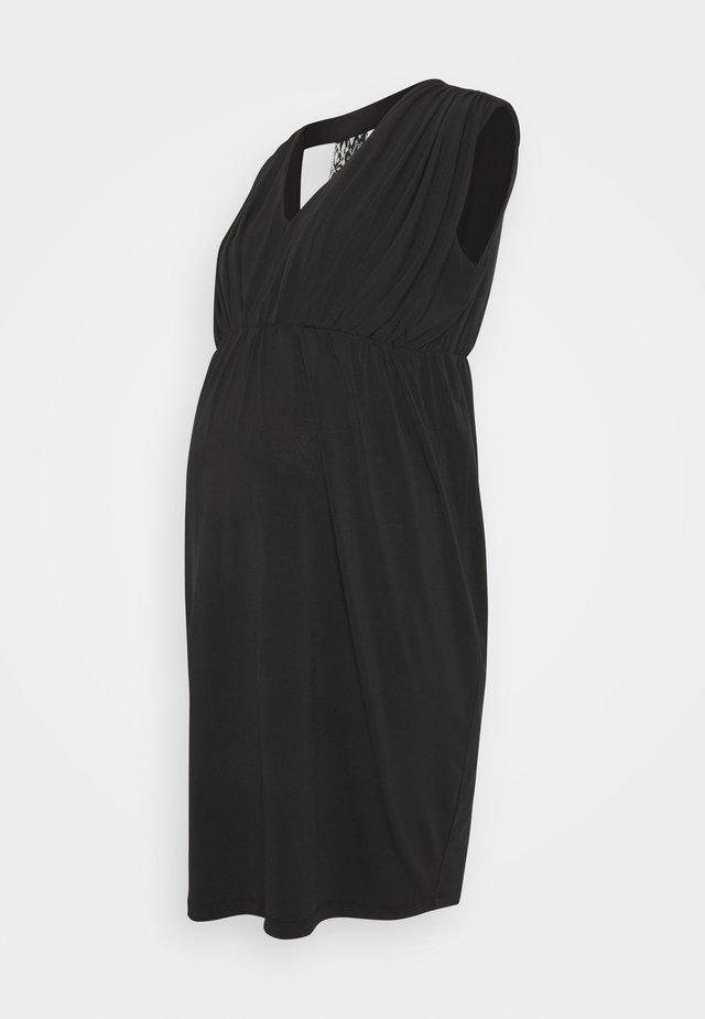 MLZORINA SHORT DRESS - Vestito di maglina - black