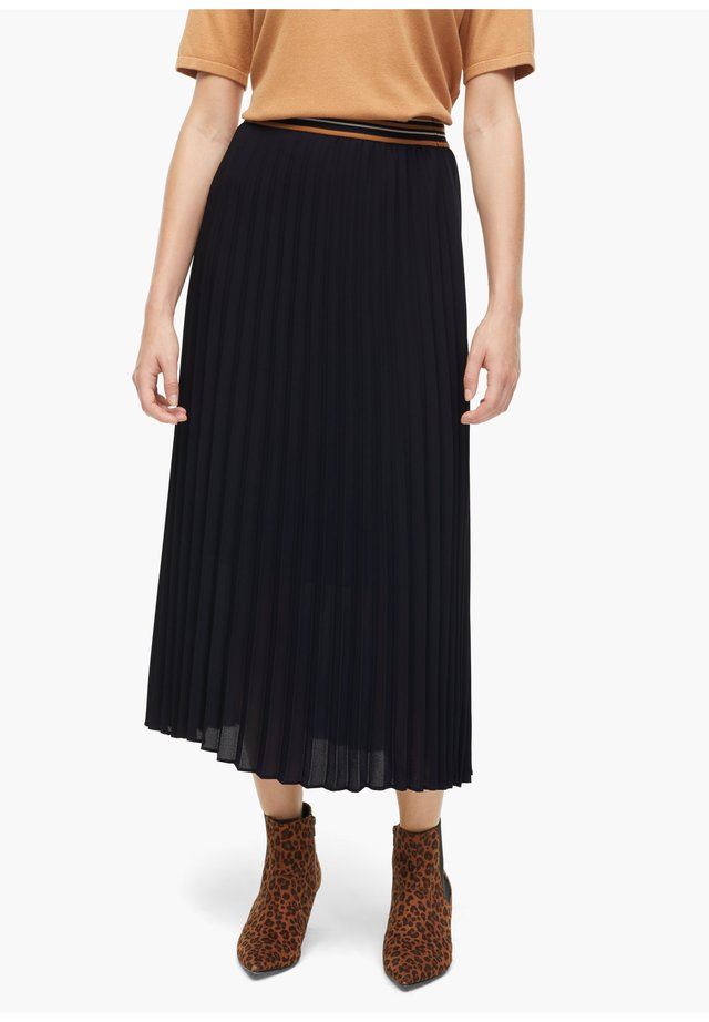 Pleated skirt - dark navy