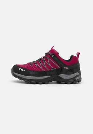 RIGEL LOW TREKKING SHOES WP - Hiking shoes - sangria/grey