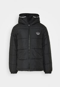 adidas Originals - HOODED PUFF - Winter jacket - black - 0