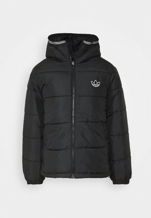 HOODED PUFF - Talvitakki - black