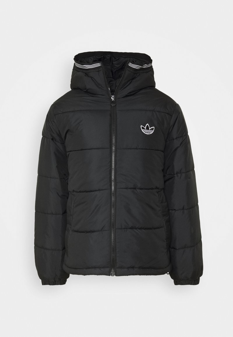 adidas Originals - HOODED PUFF - Zimní bunda - black