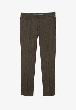 GEORGE SLACKS - Suit trousers - dark brown hbt