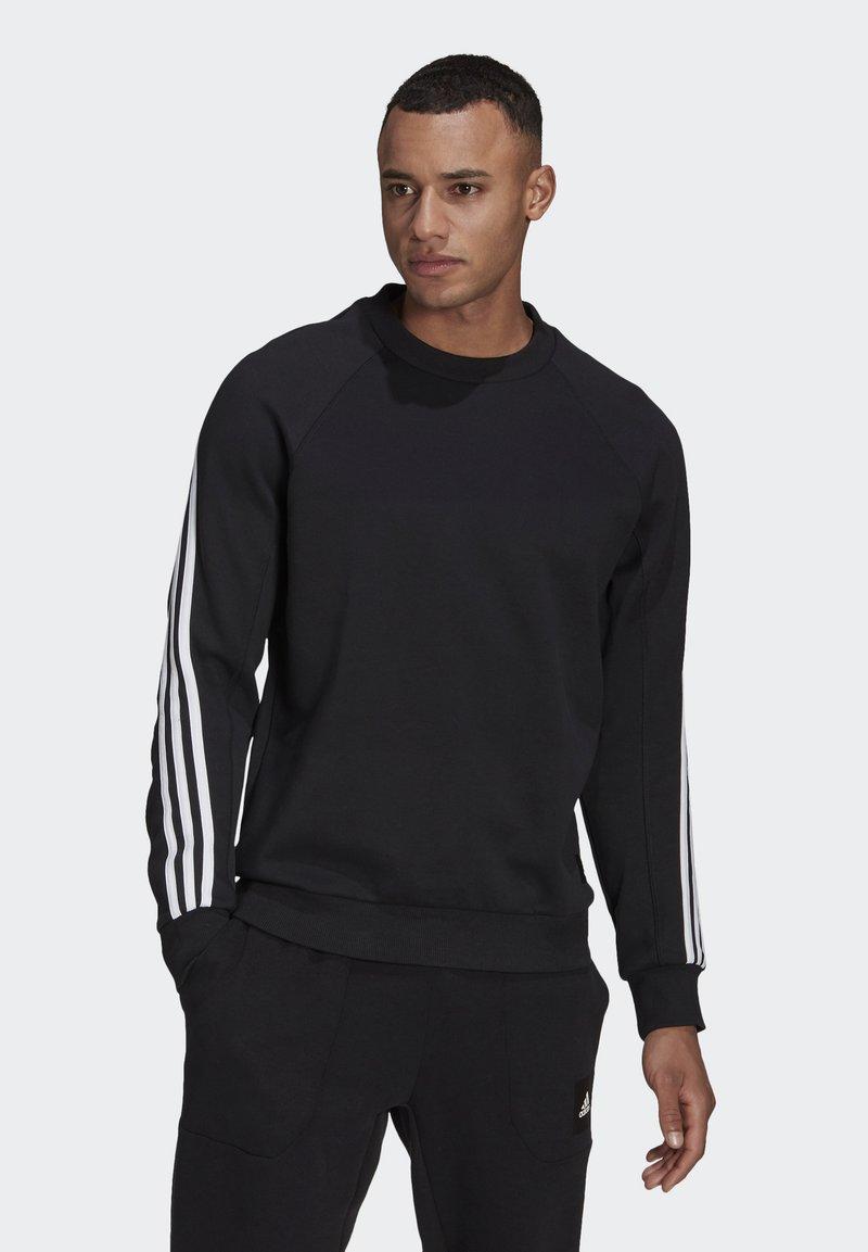 adidas Performance - CREW MUST HAVES SPORTS PULLOVER - Felpa - black