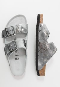 Birkenstock - ARIZONA - Pantuflas - vintage metallic gray silver - 3