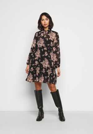 VITULLAN FLOWER DRESS - Day dress - black