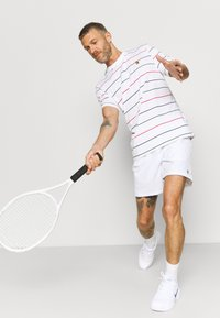 Nike Performance - STRIPES TEE - Print T-shirt - white - 3