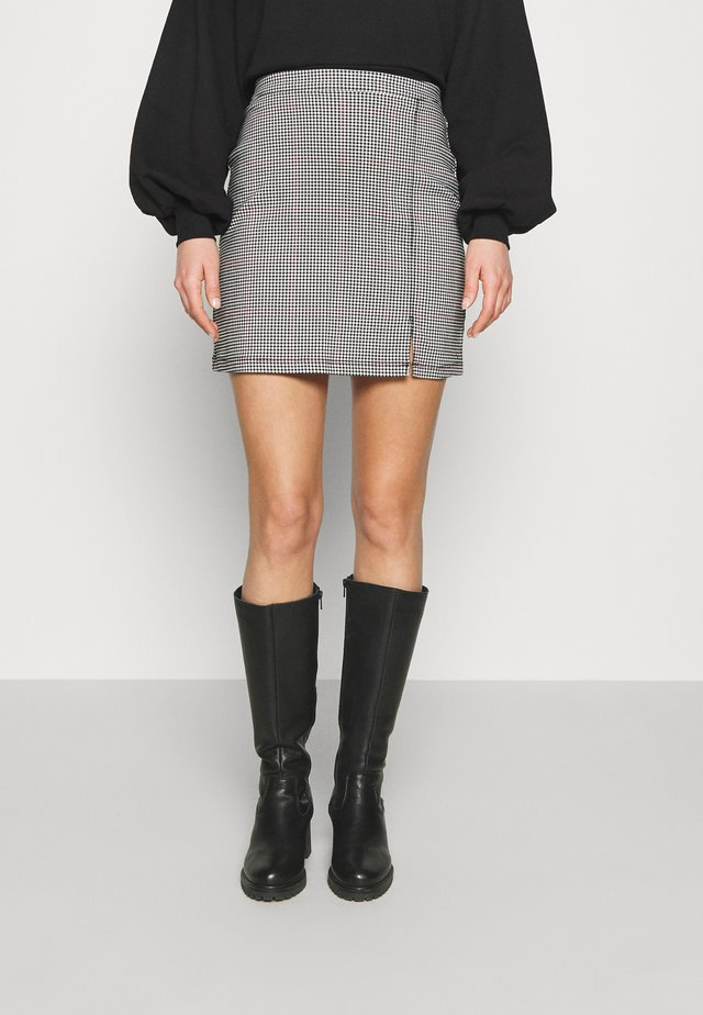 STRUCTURED PLAID MINI  - Minihame - black
