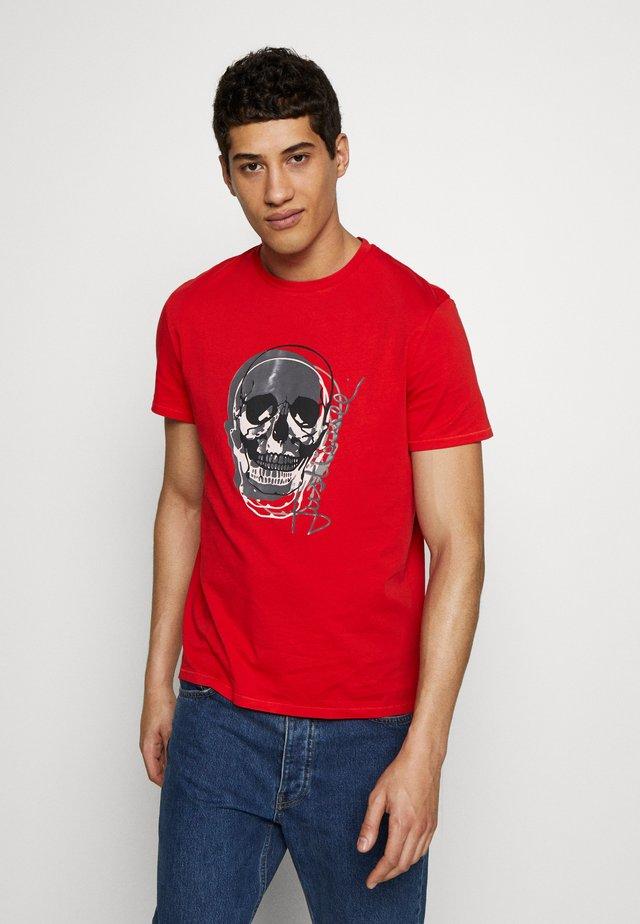 SKULL - Print T-shirt - red