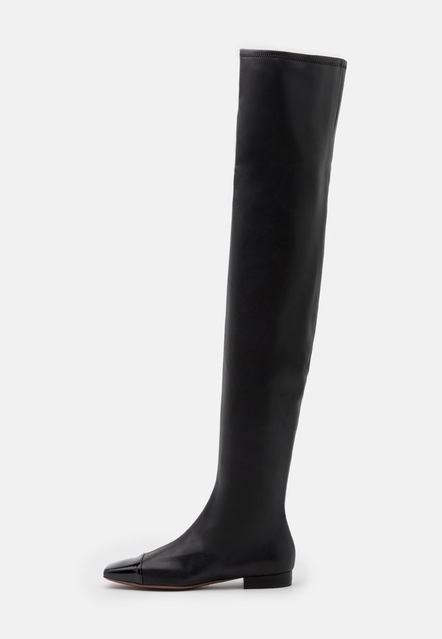 STRETCH BOOT - Overknees - black