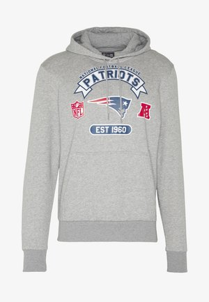 NFL GRAPHIC HOODY NEW ENGLAND PATRIOTS - Klubbkläder - grey