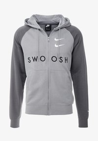 Nike Sportswear - M NSW HOODIE FZ FT - Zip-up hoodie - particle grey/iron grey/black/white - 3