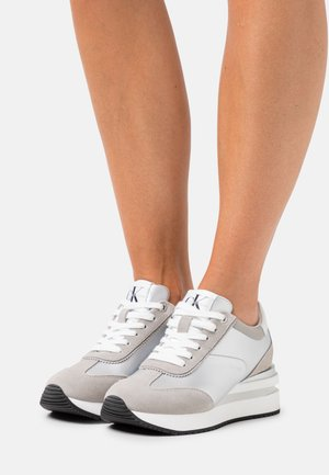 WEDGE LACEUP - Trainers - silver