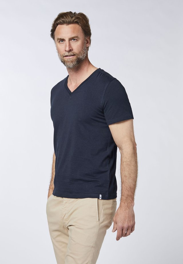DOPPELPACK - Basic T-shirt - dark blue