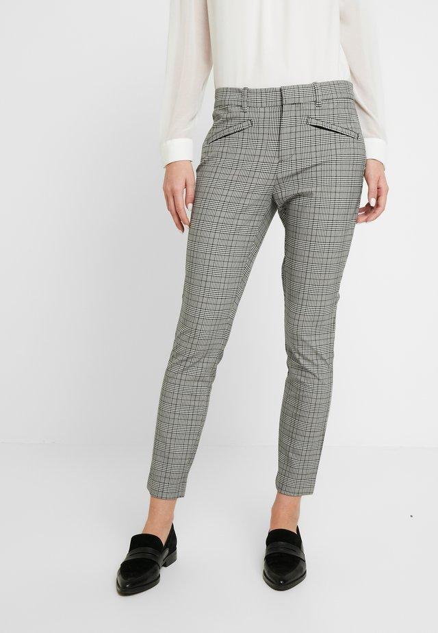 SKINNY ANKLE TECHY - Trousers - glen plaid