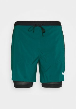 kurze Sporthose - dark teal green/black/reflective silver