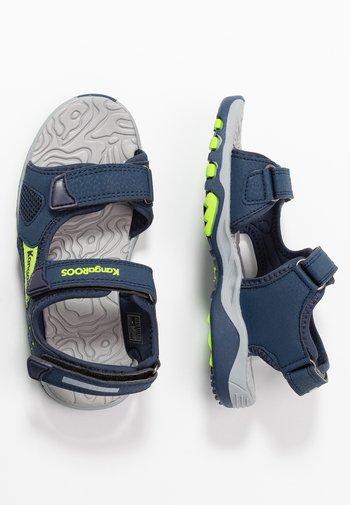 CELTIC - Walking sandals - dark navy/lime