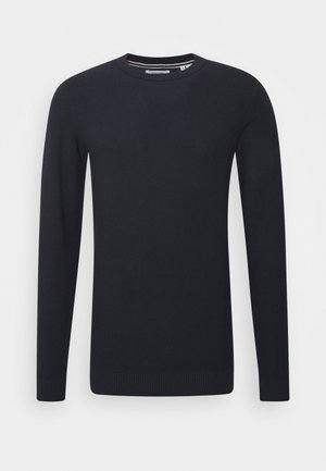 JJEAARON  - Stickad tröja - navy blazer