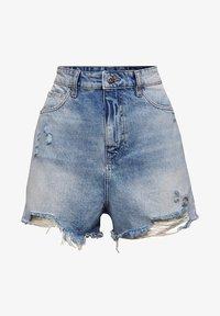 edc by Esprit - FESTIVAL  - Denim shorts - blue medium washed - 6