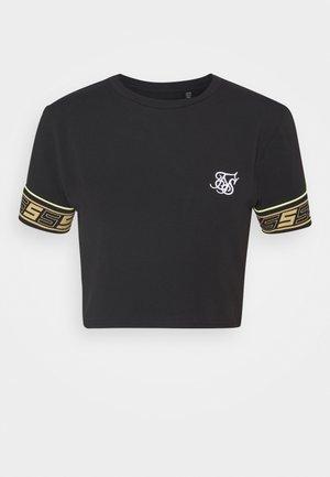 ROMA TAPE CROP TEE - Camiseta estampada - black