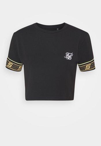 ROMA TAPE CROP TEE - Print T-shirt - black
