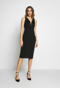 WAL G. - V NECK MIDI DRESS - Cocktail dress / Party dress - black - 0