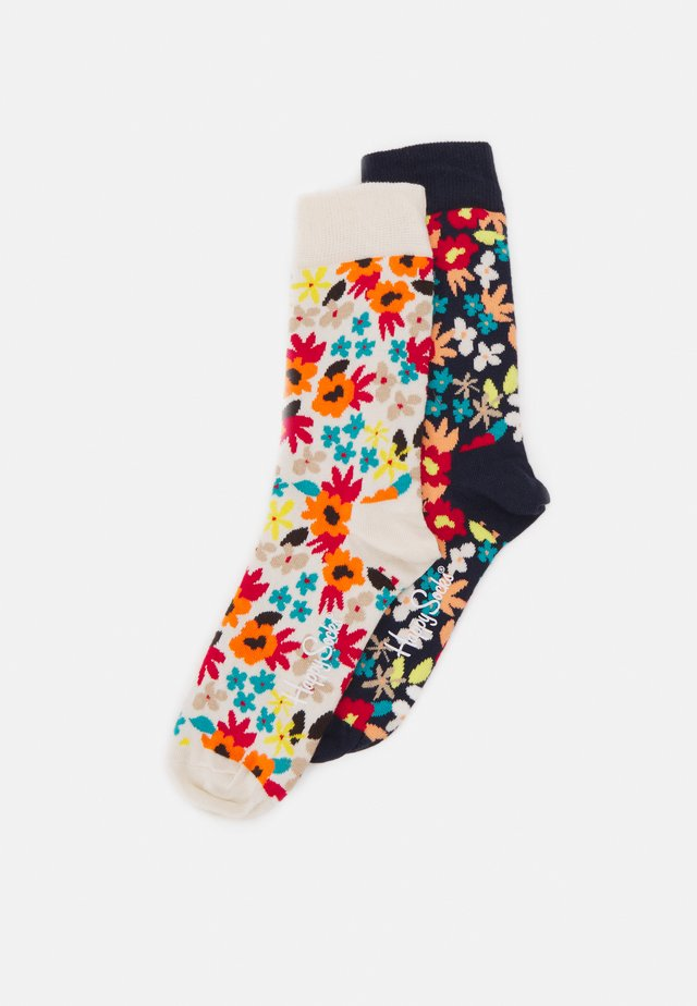 FLOWERS 2 PACK UNISEX - Sokker - multi