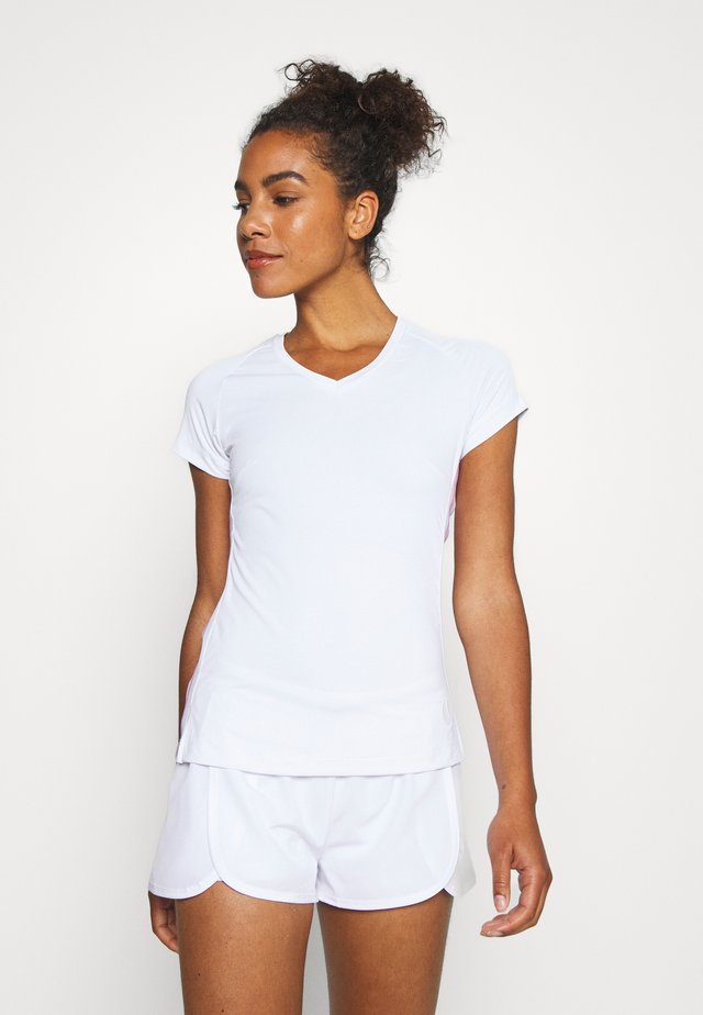 TESIA TEE - Print T-shirt - brilliant white