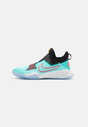 ZOOM FLIGHT UNISEX - Basketbalové boty - aurora green/laser crimson/black