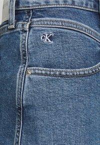 Calvin Klein Jeans - HIGH RISE MINI SKIRT - A-snit nederdel/ A-formede nederdele - light blue yoke - 4
