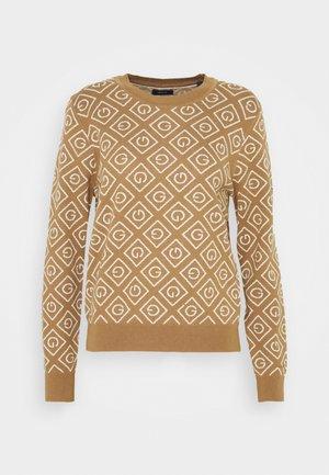 INTARSIA CREW - Jumper - warm khaki