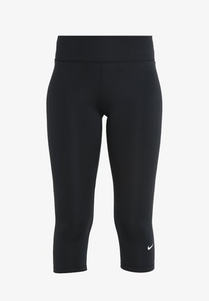 NIKE ONE TIGHT CAPRI - Tights - black/white