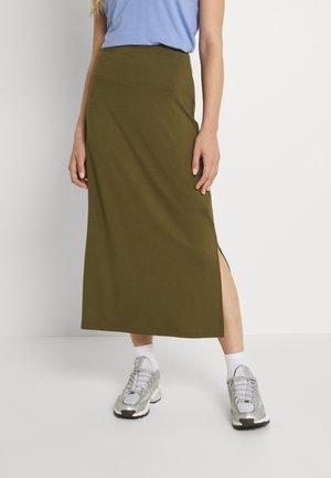 BASIC Midaxi skirt - Maxi skirt - khaki