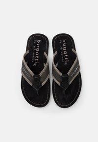 Bugatti - ARTRIANIC - T-bar sandals - black/light grey - 3